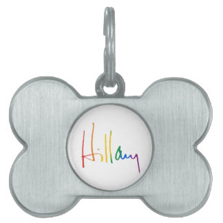 HILLARY CLINTON PRIDE -.png Pet ID Tag