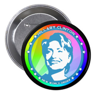 hillary clinton rainbow 3 inch round button