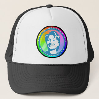 hillary clinton rainbow trucker hat