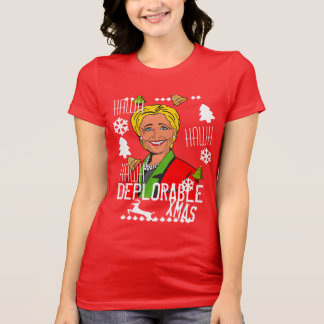 Hillary Clinton Red Ugly Christmas Shirt, women's T-Shirt