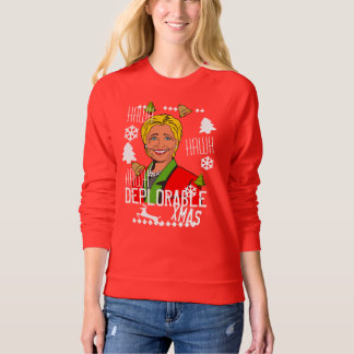 Hillary Clinton Red Ugly Christmas Sweater