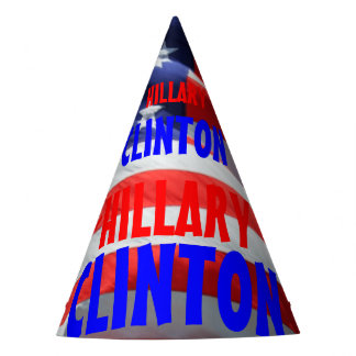 Hillary Clinton Running President American Flag Party Hat