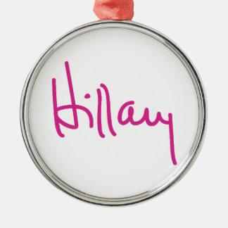 Hillary Clinton Signature Ornaments