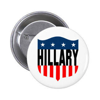 hillary clinton : stars & stripes : 2 inch round button