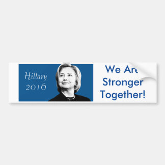 Hillary Clinton Stronger Together Bumper Sticker