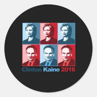 Hillary Clinton Tim Kaine 2016 - Block Art - Classic Round Sticker