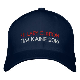 HILLARY CLINTON TIM KAINE 2016 EMBROIDERED BASEBALL CAPS