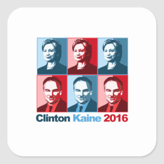 Hillary Clinton Tim Kaine 2016 Square Sticker