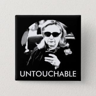 Hillary Clinton Untouchable 2 Inch Square Button