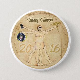 Hillary Clinton: Vitruvian Woman 3 Inch Round Button