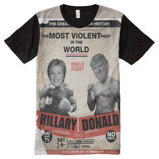 Hillary Clinton vs. Donald Trump Vintage Boxing All-Over-Print T-Shirt