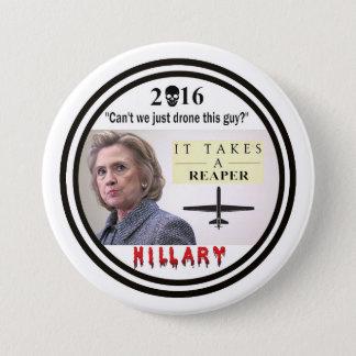 Hillary Clinton: War Criminal 3 Inch Round Button
