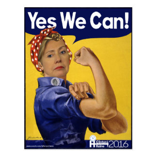 Hillary Clinton We Can Do It! Postcard