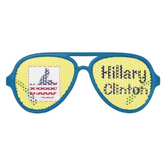 Hillary Clinton's shades with thumb-up sign