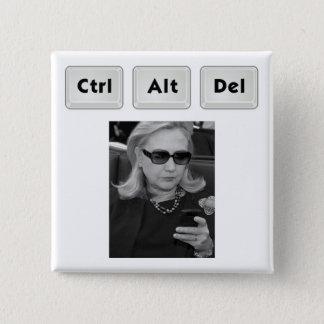 Hillary: Ctrl-Alt-Del 2 Inch Square Button