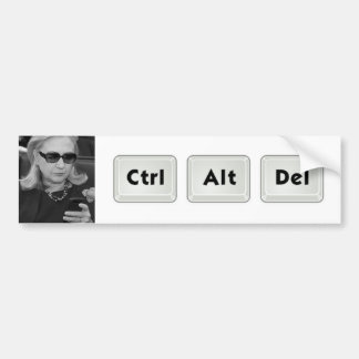 Hillary: Ctrl-Alt-Del Bumper Sticker