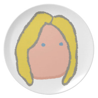 hillary emoticon party plate