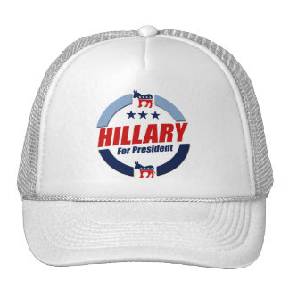 HILLARY FOR PRESIDENT DEMOCRATS TRUCKER HAT