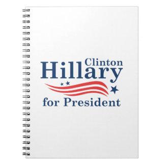Hillary For President Spiral Notebooks