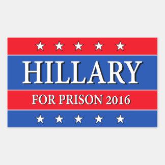 """HILLARY FOR PRISON 2016"" STICKER"
