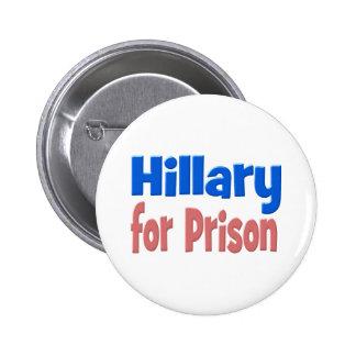 Hillary for Prison Button, pink & blue 2 Inch Round Button