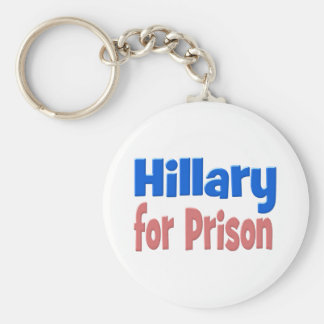Hillary for Prison Key Chain, pink & blue Keychain