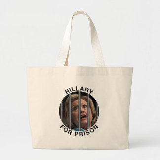 Hillary for Prison Large Tote Bag
