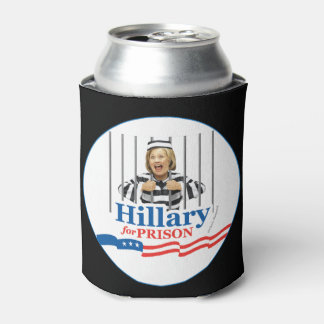 HILLARY FOR PRISON! Lock Her Up Jail Cell Prisoner Can Cooler