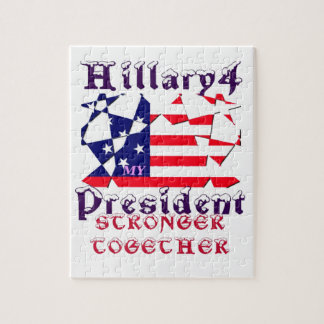Hillary For USA President We are Stronger Together Puzzle