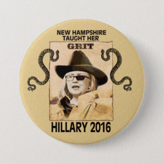 Hillary has Grit 3 Inch Round Button