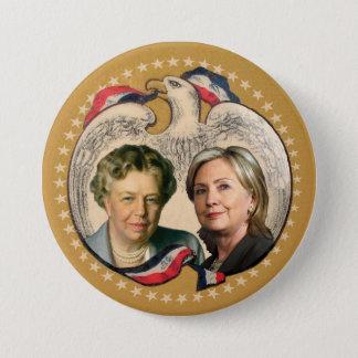 Hillary & her heroine 3 inch round button