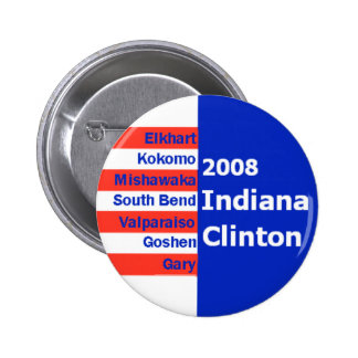 Hillary INDIANA Cities Button