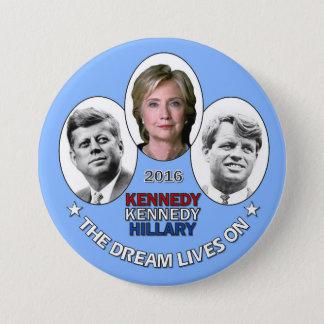 Hillary, JFK & RFK 3 Inch Round Button