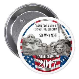 Hillary on Mount Rushmore 3 Inch Round Button