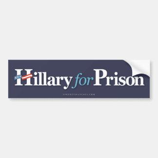 Hillary pour la prison autocollant de voiture