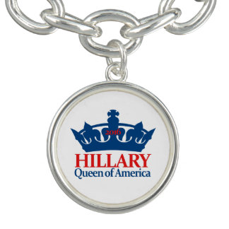 Hillary, Queen of America Charm Bracelet