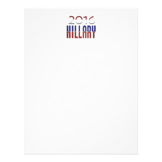 Hillary Red-white-Blue 2016 Letterhead Template