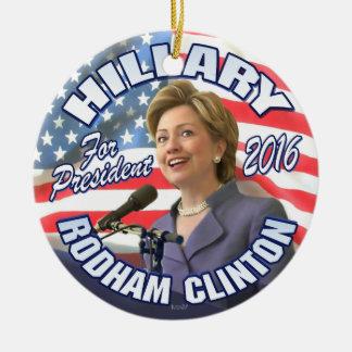 Hillary Rodham Clinton 2016 Round Ceramic Ornament