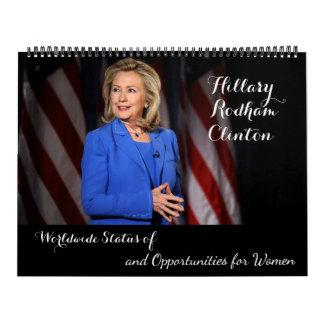 Hillary Rodham Clinton Worldwide Status of Women Wall Calendars