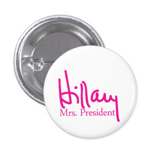 Hillary signature collection 1 inch round button