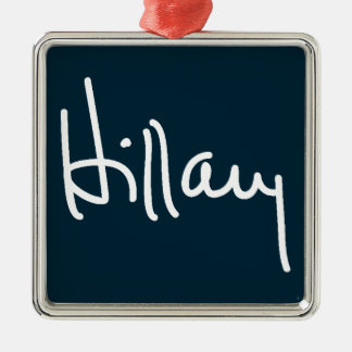 Hillary Signature Metal Ornament