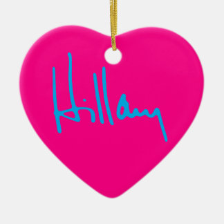 """HILLARY"" single-sided Ceramic Heart Ornament"