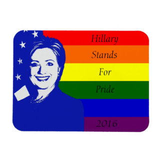 Hillary Stands For Pride Magnet