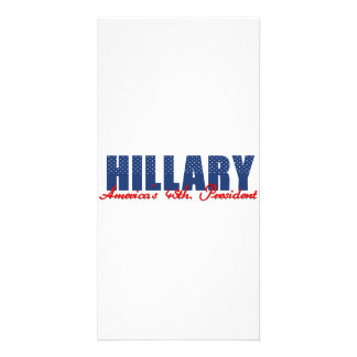 Hillary The 45th. President Custom Photo Card