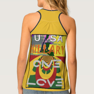 Hillary USA for President we are stronger together Tank Top
