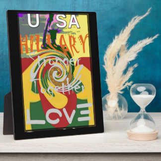 Hillary USA President Stronger Together red golden Plaque