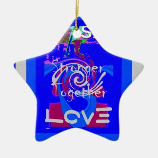 Hillary USA President Stronger Together spirit Ceramic Star Ornament