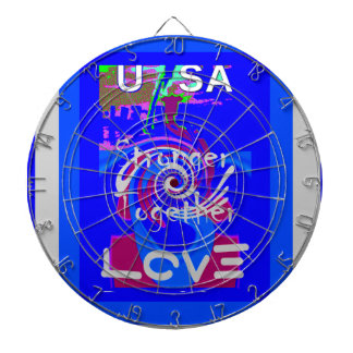 Hillary USA President Stronger Together spirit Dartboard