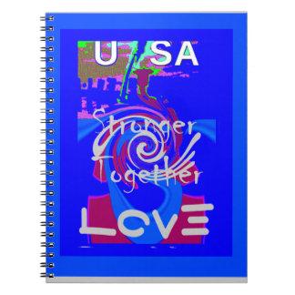 Hillary USA President Stronger Together spirit Notebook