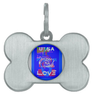 Hillary USA President Stronger Together spirit Pet ID Tags